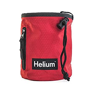 Helium | Chalk Bag for Rock Climbing, Weightlifting, Bouldering & Gymnastics with Drawstring Closure, Quick clip Belt and Zippered Pocket