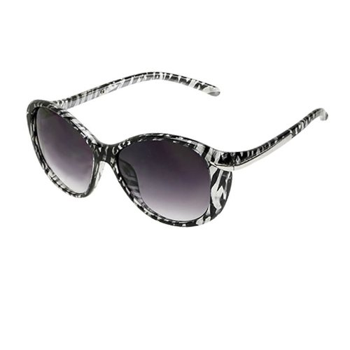 Women's Extra-Large Oversized Retro Celebrity-style Sunglasses - Zebra Print