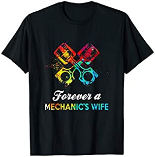 Mechanic Wife Forever A Mechanic's Wife T-shirt | Size S - 5XL