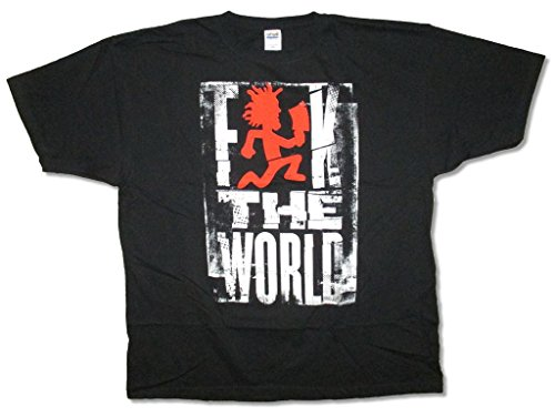 Real Swag Inc Insane Clown Posse F The World Hatchetman Black T Shirt ICP - Face Clown Insane Posse