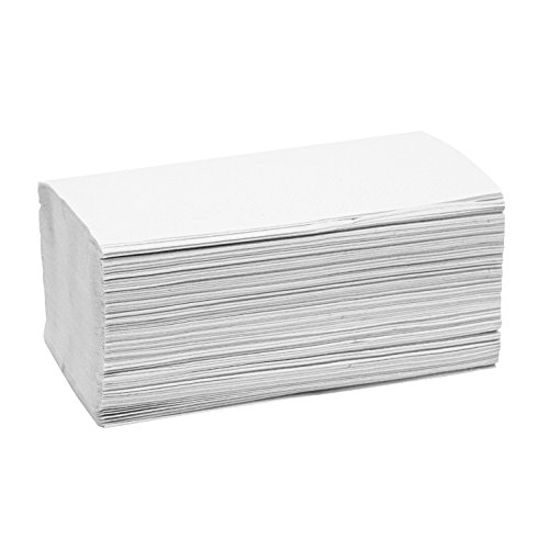 Empress QS 131211 Dispenser Napkin, Mini-Fold, 1-Ply, 13'' x 12'', 13.04'' Height, 14.12'' Width, 12'' Length, White (Pack of 6000) by Empress (Image #1)