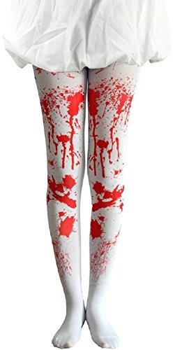 Ladies Mens Halloween Claw Horns SFX Kit Gloves Paint Mask Cape Makeup Latex Blood Wig Accessories (White Blood -