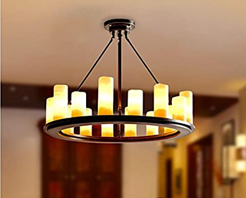 Aiwen Marble Round Wrought Iron Candel Chandelier Pendant Light ( Bulbs not Included ) Black 16 Lamp - Sixteen Lamp Chandelier