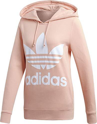 Mujer Hoodie Adidas Trefoil Camiseta Rosa Duspnk IS1nqHwCxT
