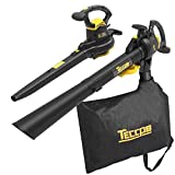 Leaf Blower Vacuum, TECCPO 12-Amp 250MPH 410CFM 3 in 1 Corded Electric...