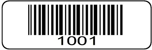 1000 label Roll, 1001 through 2000 Serial Number Barcodes 1-1/2