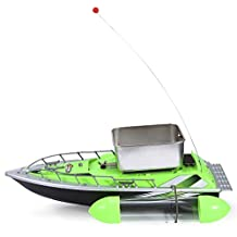 Mini RC Wireless Fishing Lure Bait Boat For Finding Fish 200M Remote Control Fish Finder (Green)