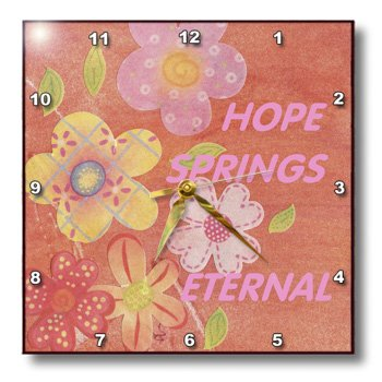 Hope Springs  on These Pink N Yellow Flowers-Wall Clock,