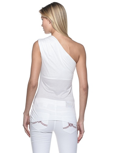 Moschino Love Bianco T Shirt Assimetrica awwxHd7P
