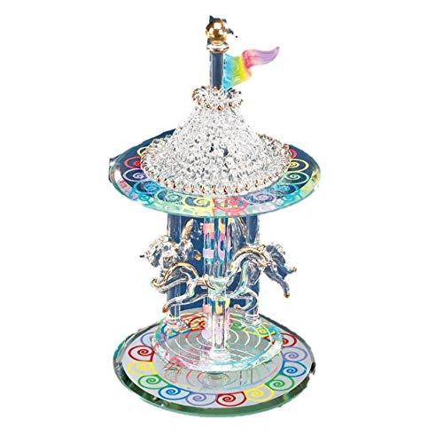 Q Gold Gifts Figurines Glass Baron Carousel Figurine ()