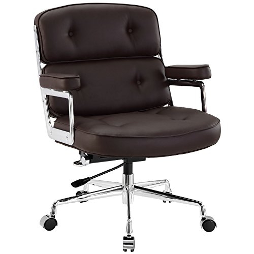 (Modway Remix Deluxe Vinyl Executive Office Chair in Brown)