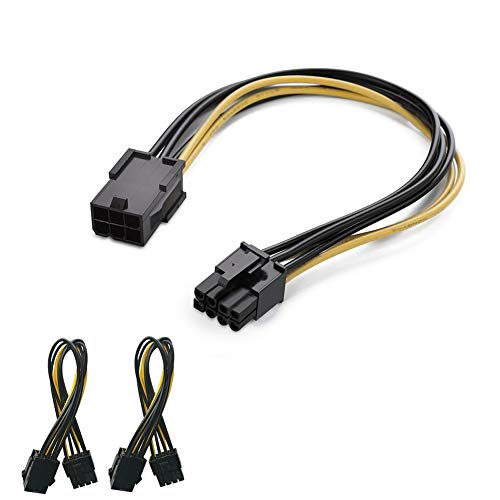 Modeshell [2-Pack PCIe Express Power Cable, 6 Pin to 8 Pin Video Card Cord (8 Inch /20 - Pc Real Time Dvr Pci