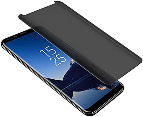 sports shoes e030e cb18a Galaxy S9 Plus Privacy Screen Protector, Top Glass S9 Plus Premium [3D  Curved] [Case Friendly] [Anti-Scratch] 9H Hardness Tempered Glass Film  Screen ...