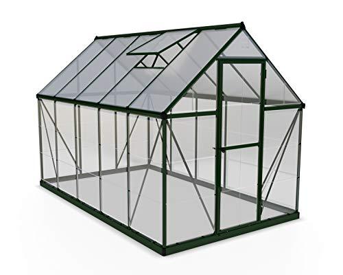 Palram HG5510G Hybrid Hobby Greenhouse, 6′ x 10′ x 7′, Forest Green