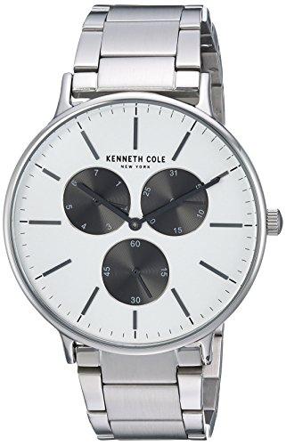Kenneth Cole New York Men's Sport' Quartz Stainless Steel Dress Watch, Color:Silver-Toned (Model: KC14946007)