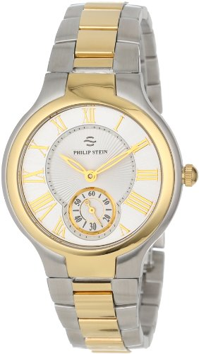Philip Stein Women's 41TG-CWG-SSTG Round Two-Tone Gold Plated Bracelet Watch