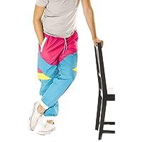 Funny chavo tazas 80s & 90s Retro Neón Windbreaker pants- Convertible Shorts o pantalones