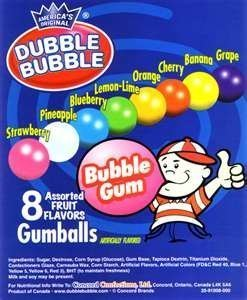 GUMBALLS 1 Dubble Bubble Concord Assorted (850 Count) by DUBBLE BUBBLE ONE INCH GUMBALLS FULL CASE 850 Ct Case