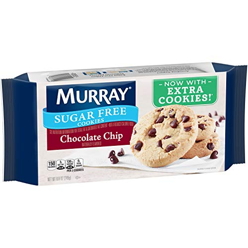 Murray Sugar Free Cookies, Chocolate Chip, 8.8 oz Tray(Pack of 12) -