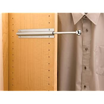 Amazon Com Pull Out Closet Garment Valet Rod Oil Rubbed