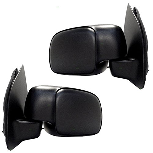 F-Series Truck SuperDuty Power Non-Heated Paddle Type Mirror Left Right SET PAIR