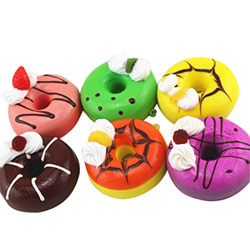 Squishy Toys, 6Pcs Soft Colourful Ice Cream Doughnut Scented Slow Rising Toys, Children's Day Gifts 2019 New (Multicolor) ()