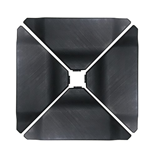 Abba Patio Cantilever Offset Umbrella Base Plate Set, Black, Pack of 4