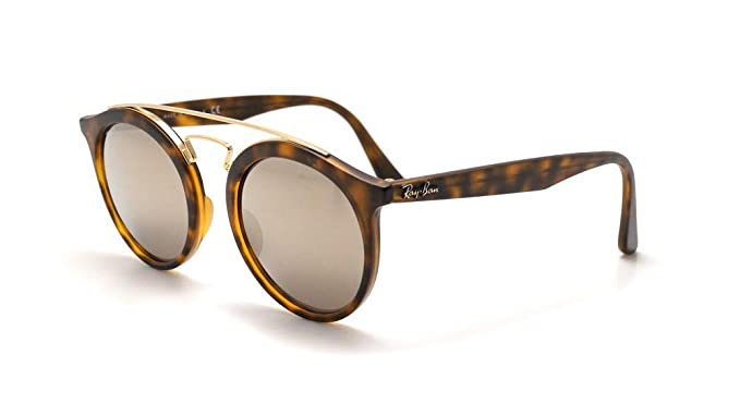 037ee91db2 Amazon.com  Ray-Ban RB4256 GATSBY I Retro-modern Sunglasses (Matte Havana  Frame Brown Gold Mirror Lens 60925A