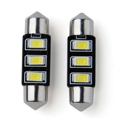 2 x 3 LED 5630 SMD 36 mm Feston dô me Voiture ampoule 2 W Blanc sunluxymall
