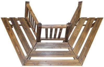 Madera Semi Circular Árbol de asiento – fantástico Burnt madera maciza Semi Circular banco de jardín, ideal para usar en torno a un árbol o otros vertical Característica.: Amazon.es: Jardín