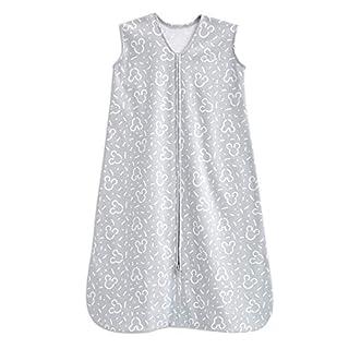 Halo Disney 100% Cotton Muslin Sleepsack Swaddle Wearable Blanket, Confetti Mickey Grey, Medium, 6-12 Months