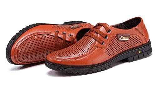 Oempd Ademend Lederen Business Casual Schoenen Mannen Kleding Schoenen Holle Bruin
