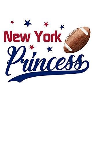 New York: Football Blank Lined Journal Notebook Diary 6x9 por Football Princess Journals