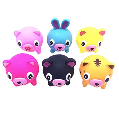 Children's Adult Toys Tongue Out Cute Tricky Funny Vocal Doll Slow Rebound Decompression Toy (6PC) (Color, 10.5cm)