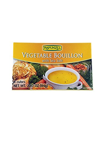 Rapunzel Vegan Vegetable Bouillon with Sea Salt, 8 Cubes, 2.97-Ounce Packages (Pack of (Veggie Bouillon Cubes)