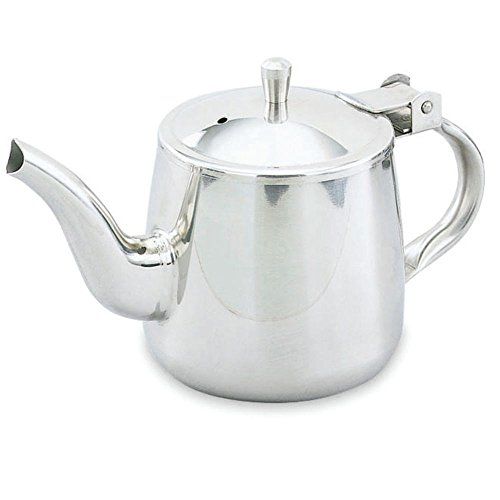 Vollrath 10 oz Plain Gooseneck Stainless Steel Tea Pot
