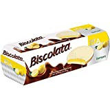 Biscolata Pia Chocolate Cookies with Chocolate or Fruit Filling – 4 Pack Chocolate Soft Baked Cookies (Lemon)