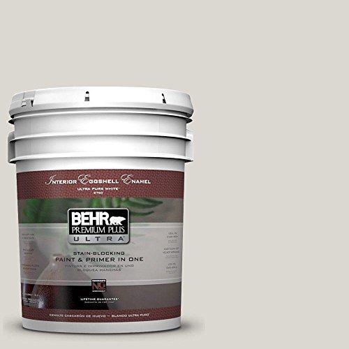 BEHR Premium Plus Ultra 5-gal. #790C-2 Silver Drop Eggshell Enamel Interior Paint