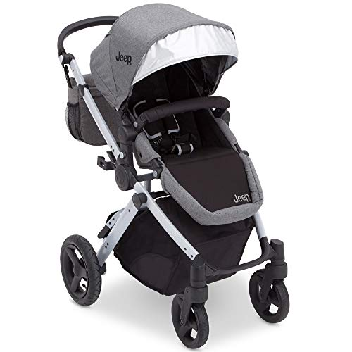 Jeep Sport Utility All-Terrain Stroller, Grey on Silver -