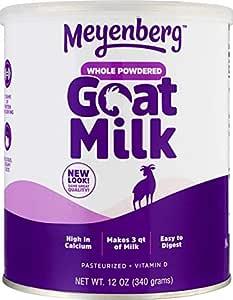 Meyenberg Whole Powdered Goat Milk (12 Ounce), Gluten Free, Non GMO, Vitamin D