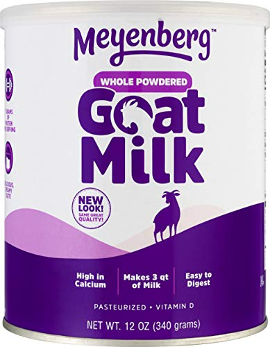 Meyenberg Whole Powdered Goat Milk (12 Ounce), Gluten Free, Non GMO, Vitamin D (Dog Formula Milk)