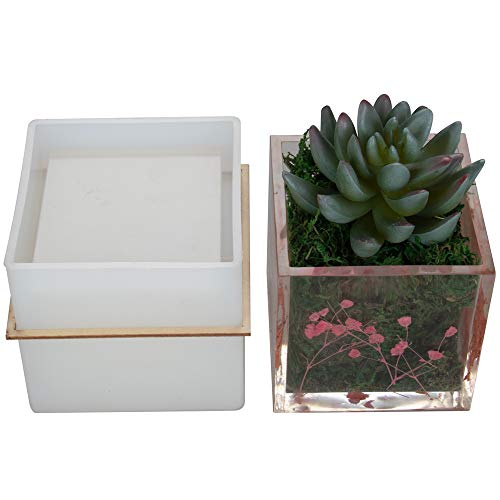 Big DIY Square Resin Plant Mold, Cube Silicone Molds, DIY Flower Pot Molds, Planter Pot Mold, Pen Holder - Mold Pot