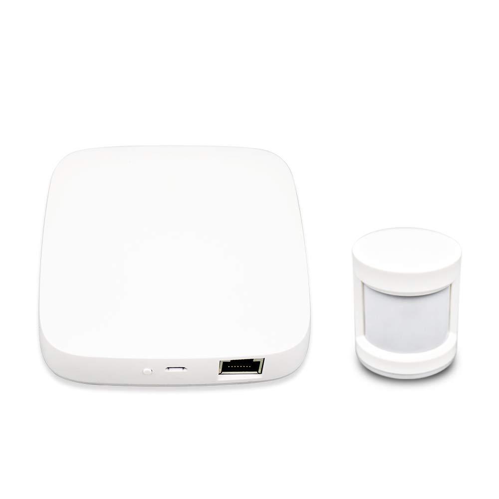BENEXMART Tuya Zigbee Hub PIR Sensor for Indoor Outdoor(hub+PIR Sensor)