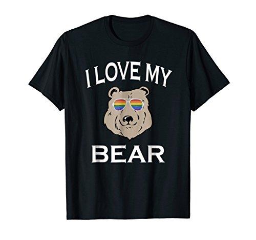 I Love My Gay Bear T-Shirt Boyfriend Husband LGBT Gift]()
