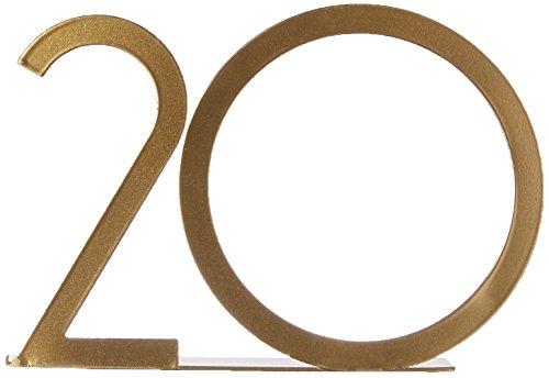 Table David (David Tutera 30039322 Table Numbers, Gold Metal)