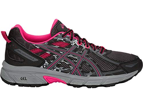 - ASICS Women's Gel-Venture 6 Running Shoes, 8.5M, Black/Pixel Pink