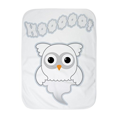 Truly Teague Baby Blanket White Spooky Little Ghost Owl by Truly Teague