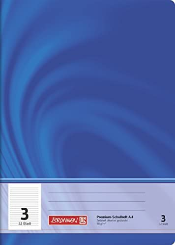 Brunnen 104440302 Schulheft A4 Vivendi (32 Blatt, liniert, Lineatur 3, Klasse 3)