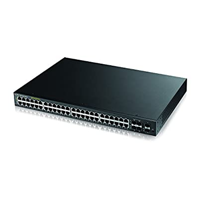 ZyXEL 24 Port Gigabit Ethernet Smart Managed PoE Switch with 375 Watt Budget & 4 Gigabit Combo Ports