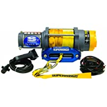 Superwinch 1145230 Terra 45 4500-Pound/2046 kg single line pull with hawse, handlebar mnt toggle, handheld remote, and synthetic rope